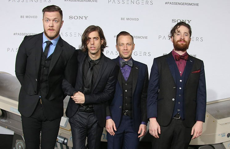 "Imagine Dragons - Dan Reynolds, Wayne Sermon, Ben McKee, Daniel Platzman - ""Passengers"" Los Angeles Premiere"