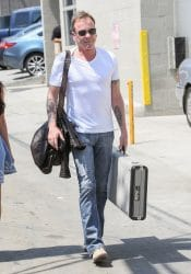 """Kiefer Sutherland Sighted Arriving at """"Jimmy Kimmel Live!"""" on August 24, 2016"""