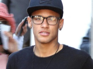 Neymar - Barcelona Footballer Neymar Attending the Barcelona Open Tennis Match