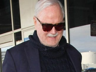 John Cleese Sighted Arriving at LAX Airport on December 22, 2016