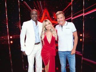"""Das Supertalent - Sylvie Meis kehrt zurück und wird in der neuen Staffel von """"Das Supertalent"""" neben Dieter Bohlen (r.) und Bruce Darnell am Jurypult Platz nehmen."""