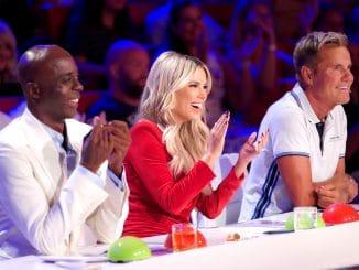 Das Supertalent _ Die Jurymitglieder Bruce Darnell (l.), Sylvie Meis und Dieter Bohlen