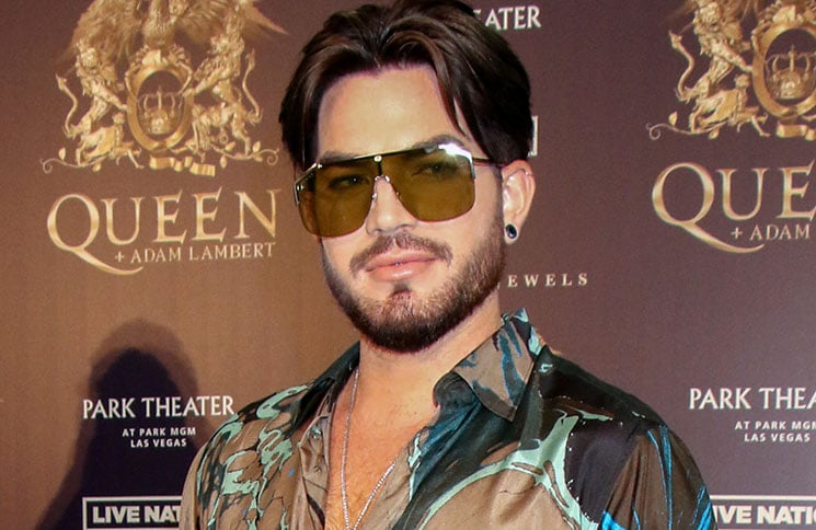 Adam Lambert - Queen + Adam Lambert Make Grand Entrance to Kick-off Limited Engagement Vegas Shows