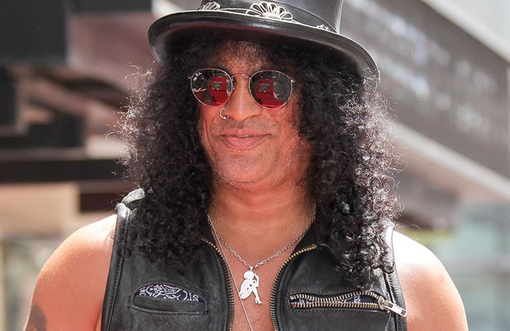 Slash Honored with a Star on the Hollywood Walk of Fame in Hollywood on July 10, 2012