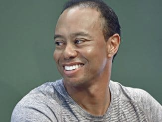 "Tiger Wood's ""The 1997 Masters: My Story"" Book Signing at Barnes & Noble in New York City on March 20, 2017"