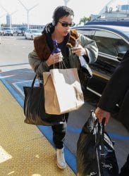 Zoe Kravitz Sighted at LAX Airport in Los Angeles on January 11, 2018