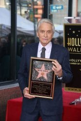 Michael Douglas Honored with a Star on the Hollywood Walk of Fame