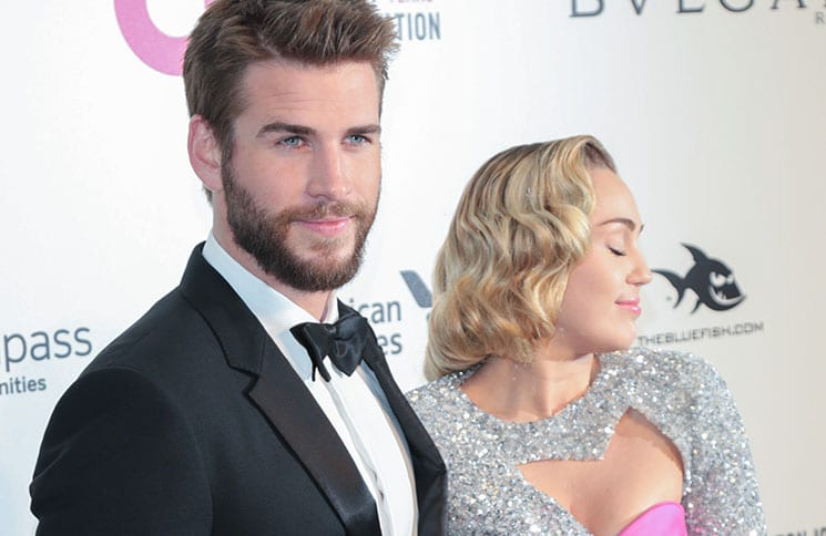 Liam Hemsworth, Miley Cyrus - 26th Annual Elton John AIDS Foundation's Academy Awards Viewing Party