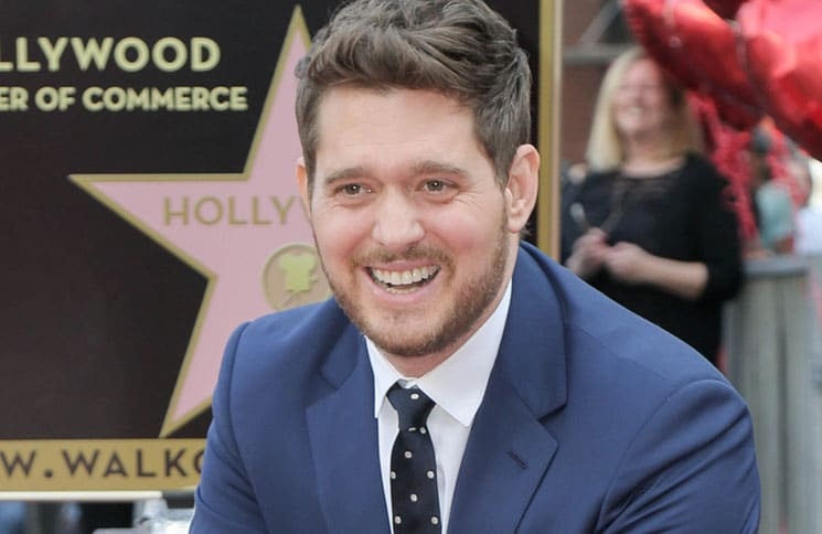 Michael Buble Honored with a Star on the Hollywood Walk of Fame