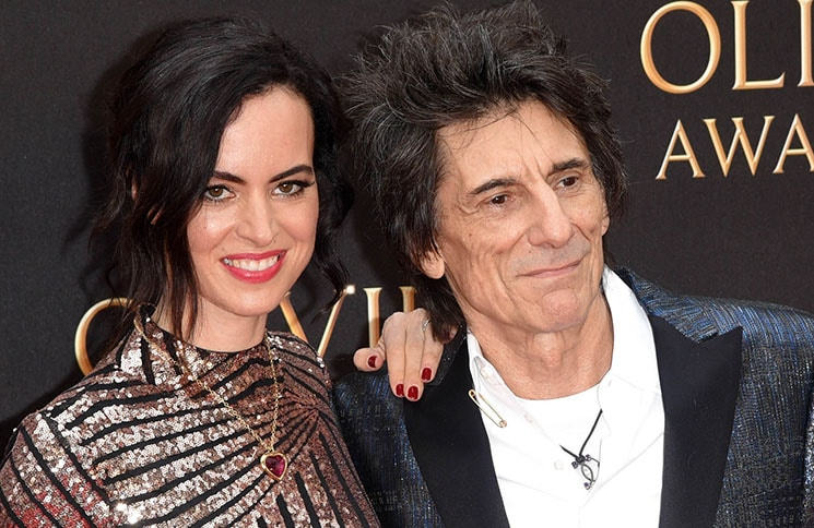 Sally Wood and Ronnie Wood - 42nd Annual Laurence Olivier Awards