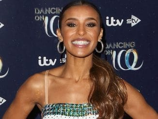 "Melody Thornton - ""Dancing on Ice"" Launch Showcase at the Natural History Museum Ice Rink in Kensington"