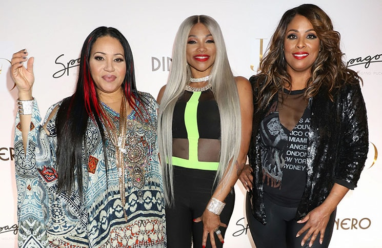 """Salt-N-Pepa - Jennifer Lopez Celebrates Release of New Single """"Dinero"""" with Wolfgang Puck During Sneak Peak of the New Spago at Bellagio"""