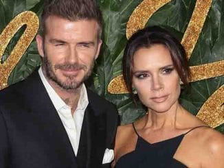 David Beckham and Victoria Beckham - The Fashion Awards 2018