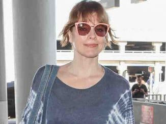 Milla Jovovich Sighted at LAX Airport in Los Angeles on September 18, 2017