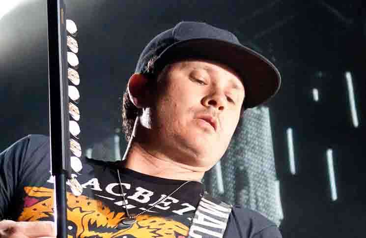 Tom DeLonge - Blink 182 in Concert at Pavilhão Atlântico in Lisbon, Portugal