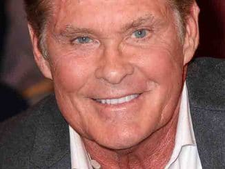 """David Hasselhoff Visits the """"Markus Lanz Late Show"""" TV Show in Hamburg on April 3, 2019"""