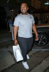 Timbaland Sighted Departing Craig's Restaurant in West Hollywood on October 10, 2016