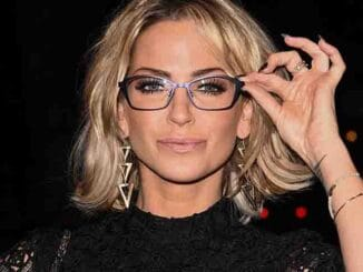 Sarah Harding - Specsavers Spectacle Wearer of the Year Awards 2015