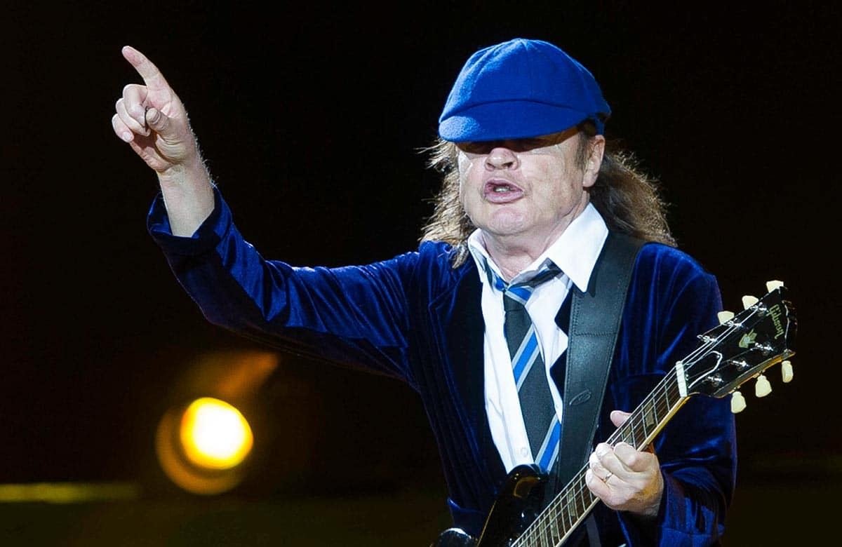 Angus Young - AC/DC in Concert at Vicente Calderon Stadium in Madrid - May 31, 2015