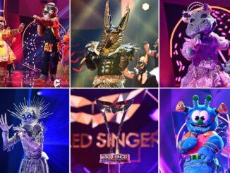 """Die fünf Finalisten bei """"The Masked Singer"""""""
