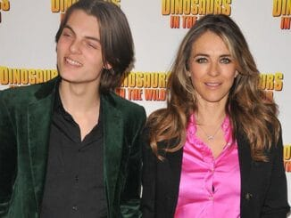 """Damian Hurley and Elizabeth Hurley - """"Dinosaurs in the Wild"""" Immersive Experience Greenwich Peninsula VIP Preview"""