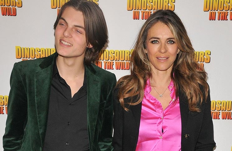 "Damian Hurley and Elizabeth Hurley - ""Dinosaurs in the Wild"" Immersive Experience Greenwich Peninsula VIP Preview"