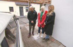 V.l.: Vincenzo, Regina und Panagiota Biete Rostlaube, suche Traumauto