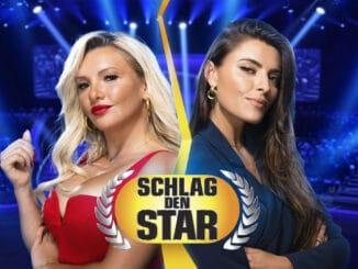 """E. Burdecki (l.) und S. Thomalla (r.) bei """"Schlag den Star"""""""