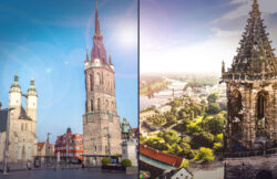 Halle an der Saale und Magdeburg an der Elbe