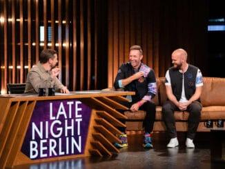 "Coldplay besuchen Klaas bei ""Late Night Berlin""."
