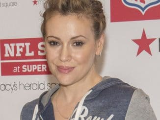 "Alyssa Milano and Macy's Promote ""Touch"" Apparel in New York City"