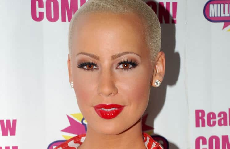 "Amber Rose Launches Her ""Amber Blondie Shake"" Milkshake at Millions of Milkshakes in West Hollywood"