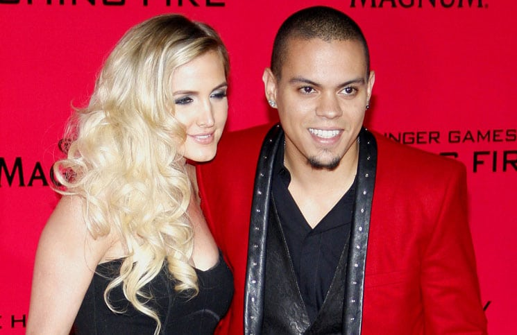 "Evan Ross and Ashlee Simpson - ""The Hunger Games: Catching Fire"" Los Angeles Premiere"