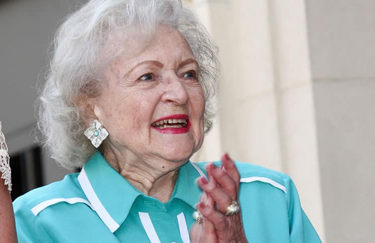 Betty White - Valerie Bertinelli Honored with a Star on the Hollywood Walk of Fame