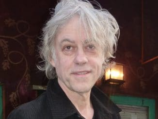 Bob Geldof Sighted Walking on Melrose Avenue in Los Angeles