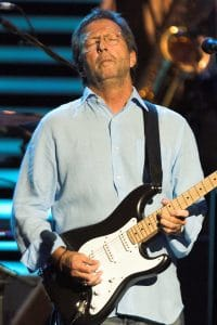Eric Clapton in concert at the Royal Albert Hall in London