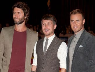 "Howard Donald, Mark Owen and Gary Barlow - ""The Three Musketeers"" World Premiere"