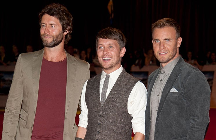 Howard Donald, Mark Owen and Gary Barlow -