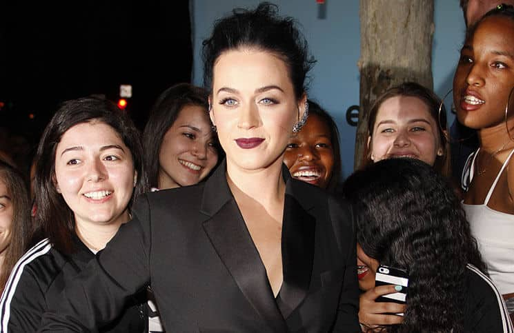 "Katy Perry - World Premiere Of EPIX's ""Katy Perry: The Prismatic World Tour"" - The Ace Hotel"