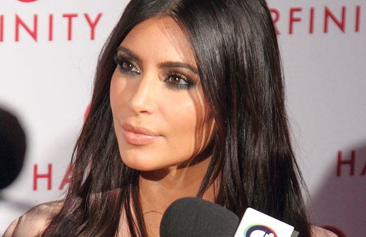 Kim Kardashian - Hairfinity UK Launch Party