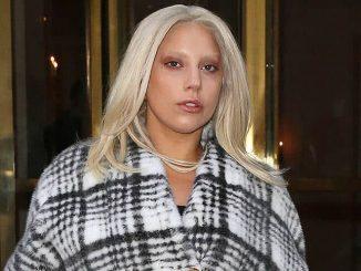 Lady Gaga is seen leaving the Bristol Hotel