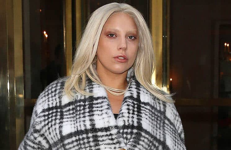 Lady Gaga is seen leaving the Bristol Hotel