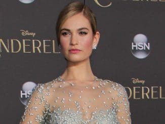 "Lily James - Disney's ""Cinderella"" World Premiere"