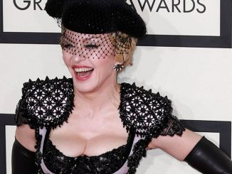 Madonna at the 57th Annual Grammy Awards