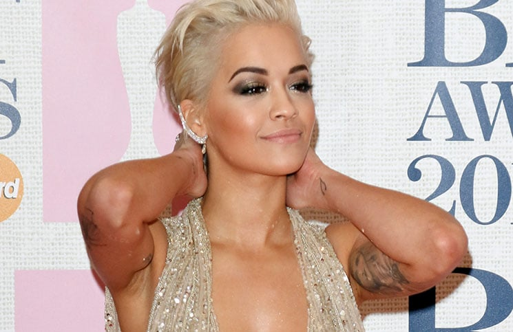 Rita Ora - BRIT Awards 2015 - Arrivals - 02 Arena