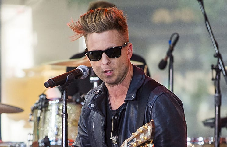 "Ryan Tedder - One Republic in Concert on NBC's ""Today Show"" at Rockefeller Center in New York City"