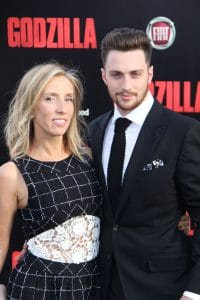 "Aaron Taylor-Johnson and Sam Taylor-Wood - ""Godzilla"" Los Angeles Premiere"