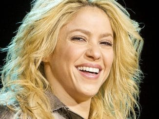 Shakira in Concert at the Vincente Calderon Stadium in Madrid