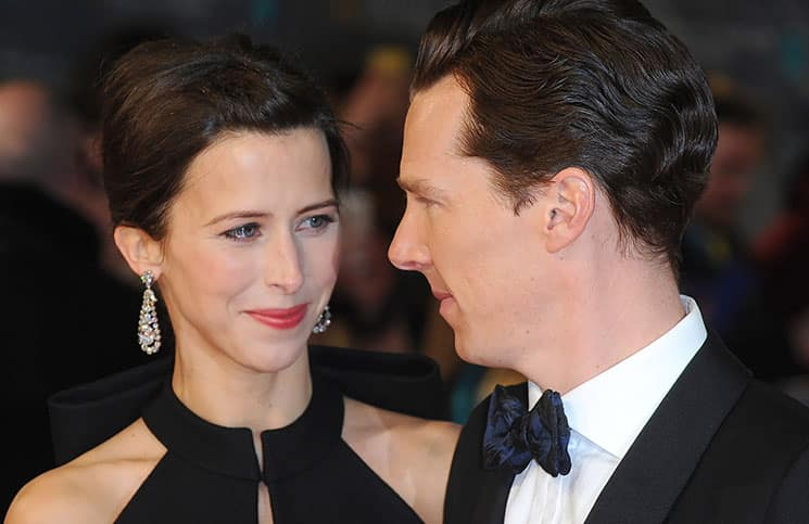 Benedict Cumberbatch and Sophie Hunter - EE British Academy Film Awards 2015