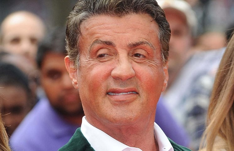 """Sylvester Stallone with wife Jennifer Flavin and daughters - """"The Expendables 3"""" World Premiere"""